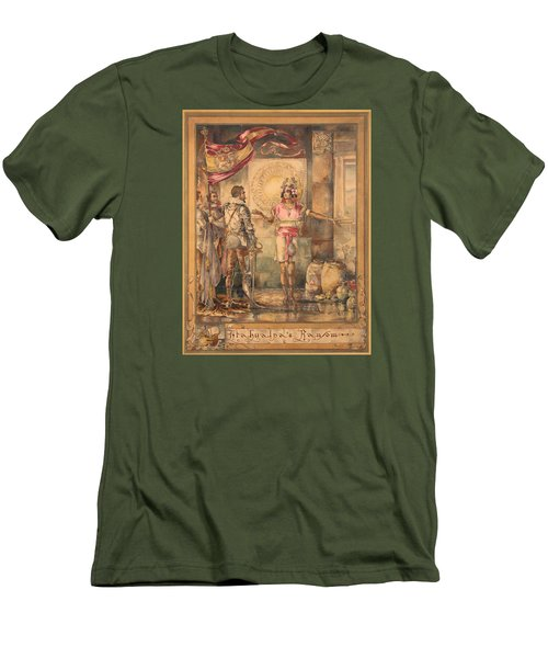 Atahualpa's Ransom Helen Maitland Armstrong Men's T-Shirt (Slim Fit) by Paul Ashby Antique Paintings