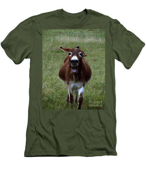 Men's T-Shirt (Slim Fit) featuring the photograph Attack by Peter Piatt