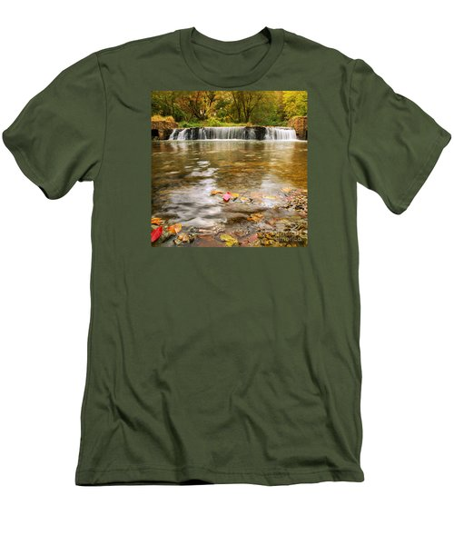 Men's T-Shirt (Slim Fit) featuring the photograph Autumn At Valley Creek by Rima Biswas
