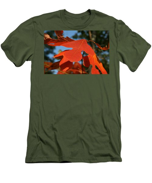Men's T-Shirt (Slim Fit) featuring the photograph Autumn Attention by Neal Eslinger