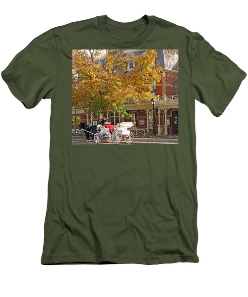 Autumn Carriage For Hire Men's T-Shirt (Athletic Fit)