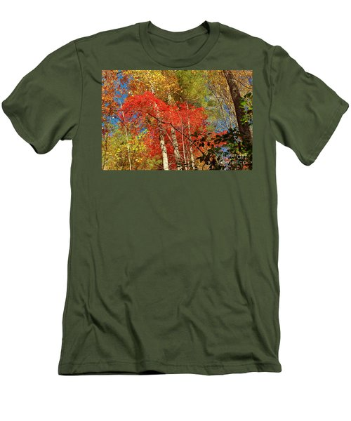 Men's T-Shirt (Slim Fit) featuring the photograph Autumn Colors by Patrick Shupert