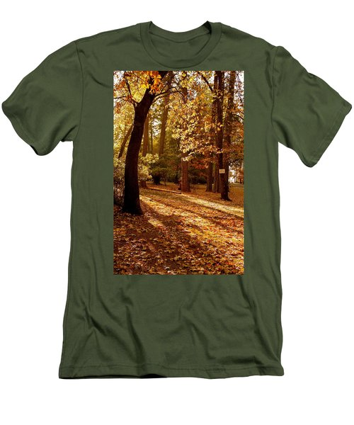 Autumn Country Lane Evening Men's T-Shirt (Athletic Fit)