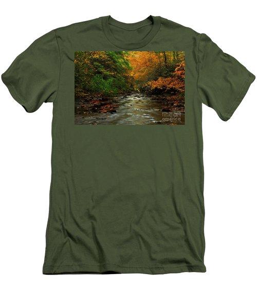 Autumn Creek Men's T-Shirt (Slim Fit) by Melissa Petrey