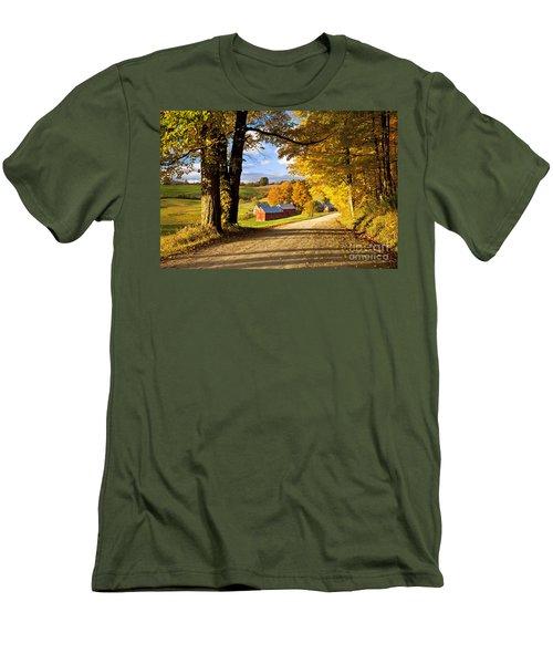 Autumn Farm In Vermont Men's T-Shirt (Athletic Fit)