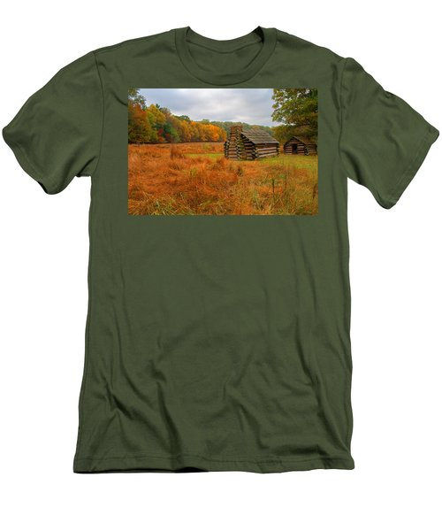 Autumn Foliage In Valley Forge Men's T-Shirt (Slim Fit) by Michael Porchik