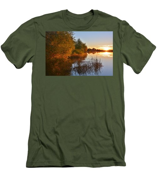 Autumn Glow At The Lake Men's T-Shirt (Athletic Fit)