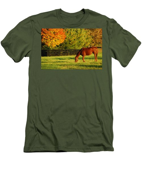 Autumn Grazing Men's T-Shirt (Slim Fit) by James Kirkikis