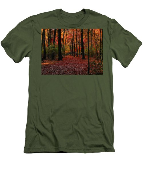 Autumn IIi Men's T-Shirt (Slim Fit) by Raymond Salani III