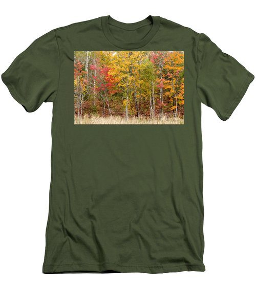 Autumn In Muskoka Men's T-Shirt (Slim Fit) by Les Palenik