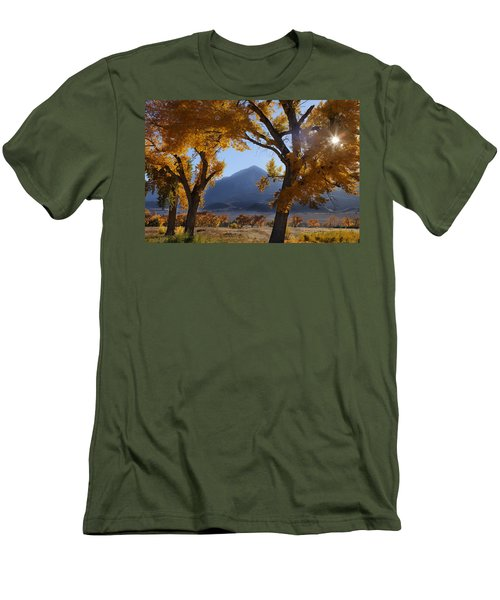 Autumn In The Mountains Men's T-Shirt (Athletic Fit)