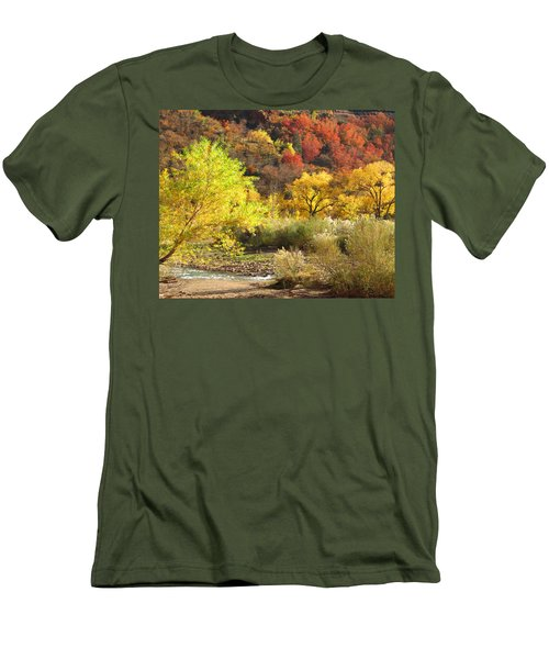 Men's T-Shirt (Slim Fit) featuring the photograph Autumn In Zion by Alan Socolik