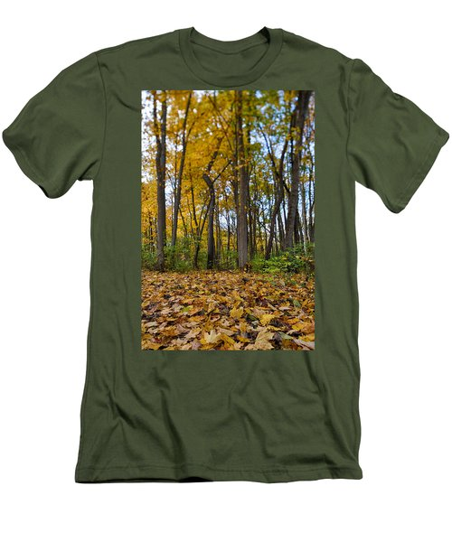 Men's T-Shirt (Slim Fit) featuring the photograph Autumn Is Here by Sebastian Musial