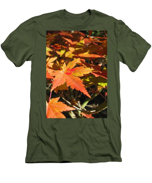 Autumn Leaves 9 - Autumn Leaves Macro Men's T-Shirt (Athletic Fit)