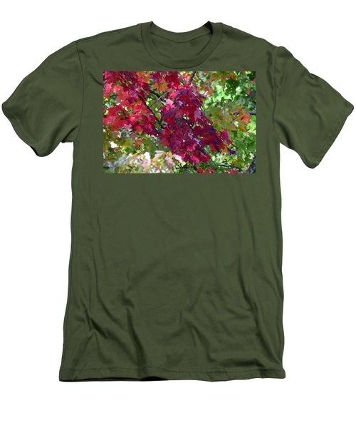 Autumn Leaves Reflections Men's T-Shirt (Athletic Fit)