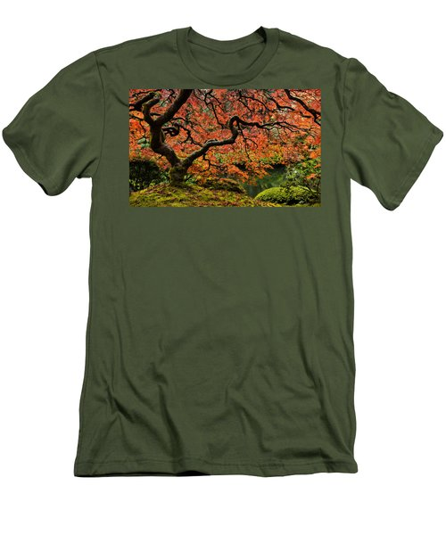 Autumn Magnificence Men's T-Shirt (Slim Fit) by Don Schwartz