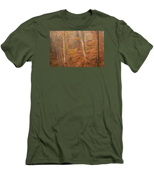 Men's T-Shirt (Slim Fit) featuring the photograph Autumn Mist by Patrice Zinck