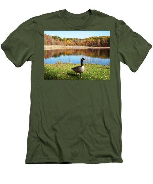 Autumn Pond Goose Men's T-Shirt (Athletic Fit)