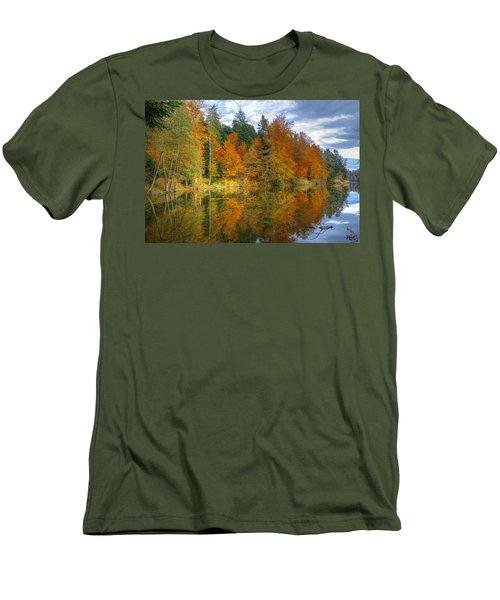 Autumn Reflection Men's T-Shirt (Athletic Fit)