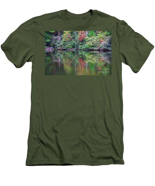 Autumn Reflections Men's T-Shirt (Slim Fit) by Melissa Petrey