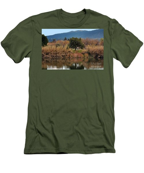 Men's T-Shirt (Slim Fit) featuring the photograph Autumn Rider by Susan Wiedmann