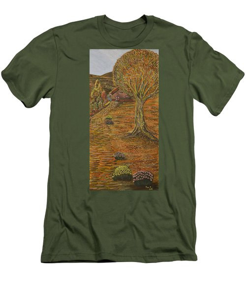 Autumn Sequence Men's T-Shirt (Slim Fit) by Felicia Tica