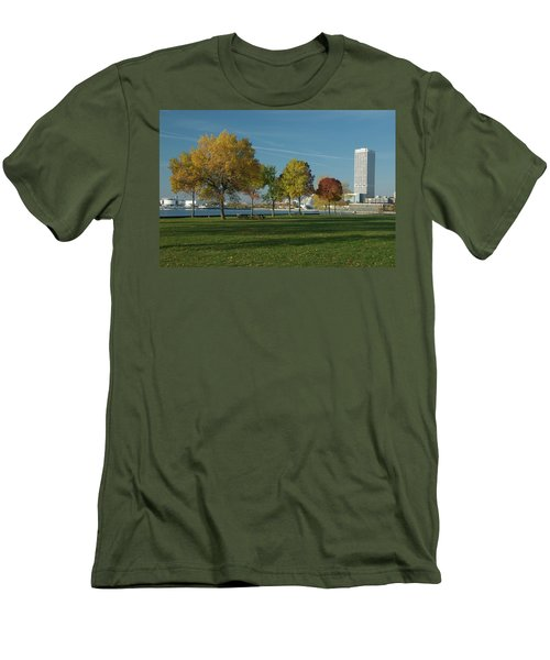 Autumn Trees Men's T-Shirt (Slim Fit) by Jonah  Anderson