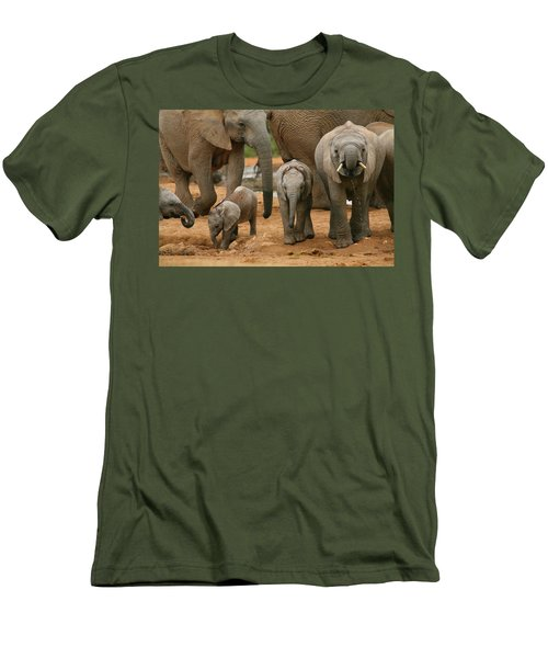 Baby African Elephants Men's T-Shirt (Athletic Fit)