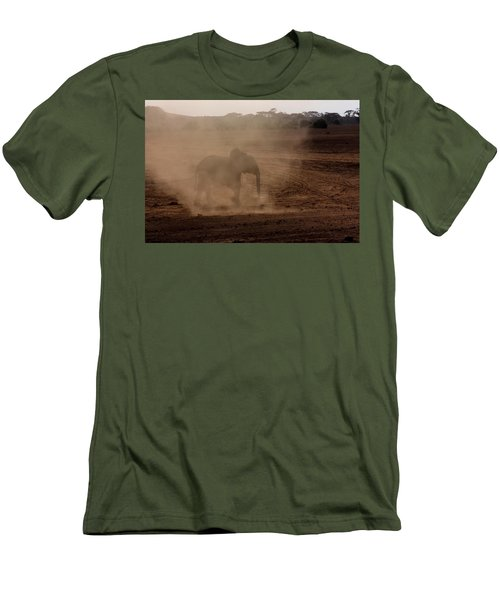 Men's T-Shirt (Slim Fit) featuring the photograph Baby Elephant  by Amanda Stadther