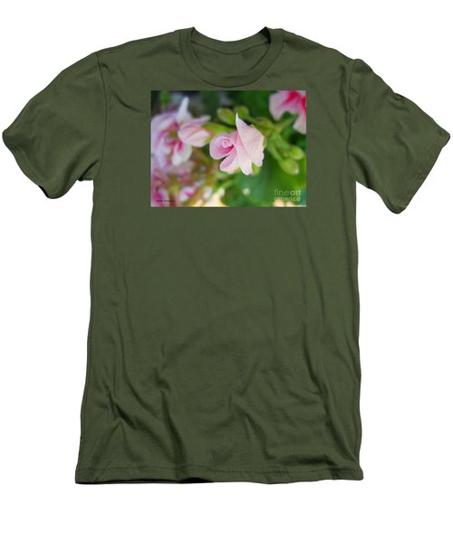 Men's T-Shirt (Slim Fit) featuring the photograph Baby Geranium by Ramona Matei