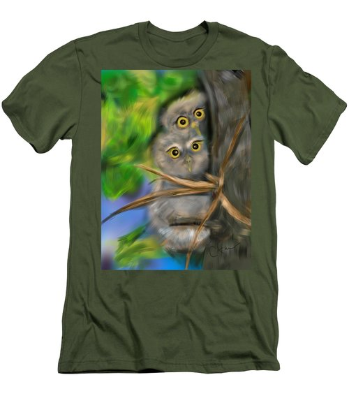 Baby Owls Men's T-Shirt (Slim Fit) by Christine Fournier