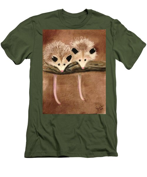 Baby Possums Men's T-Shirt (Athletic Fit)