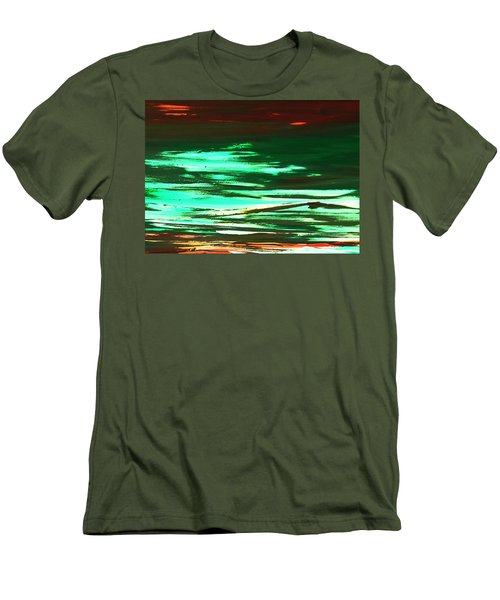 Back To Canvas The Landscape Of The Acid People Men's T-Shirt (Slim Fit) by Sir Josef - Social Critic -  Maha Art