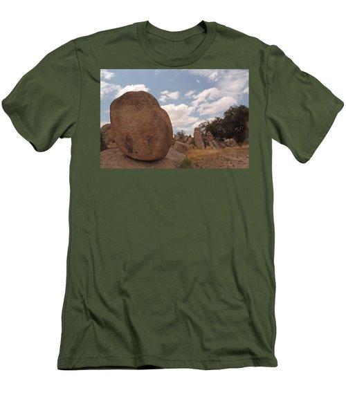 Balanced Rock Men's T-Shirt (Athletic Fit)