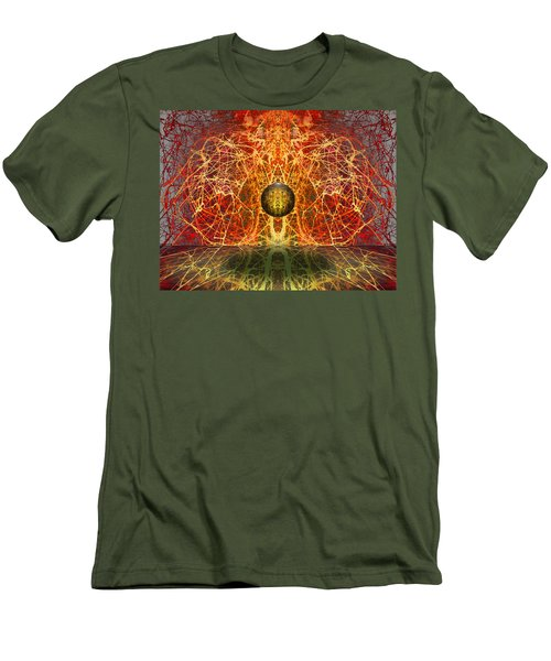 Men's T-Shirt (Slim Fit) featuring the digital art Ball And Strings by Otto Rapp