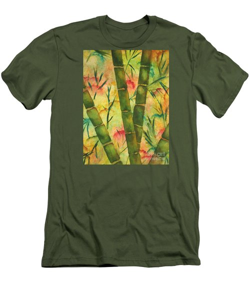 Bamboo Garden Men's T-Shirt (Slim Fit) by Chrisann Ellis