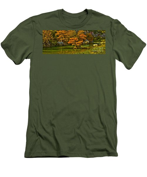 Bandera Falls On Medina River Men's T-Shirt (Athletic Fit)