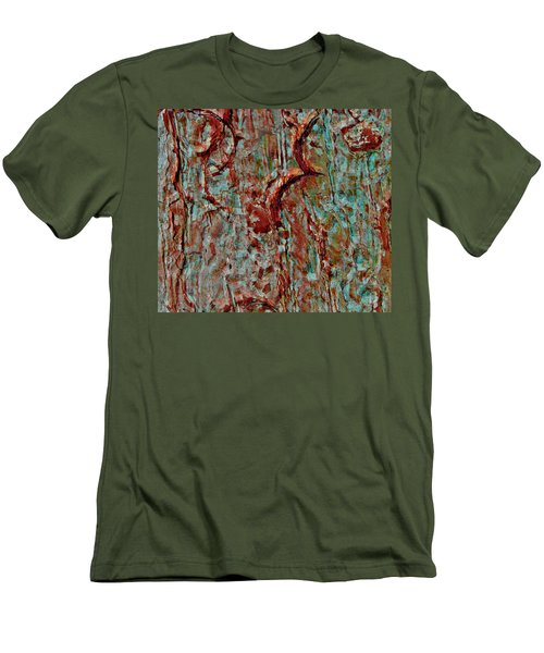 Men's T-Shirt (Slim Fit) featuring the digital art Bark Layered by Stephanie Grant
