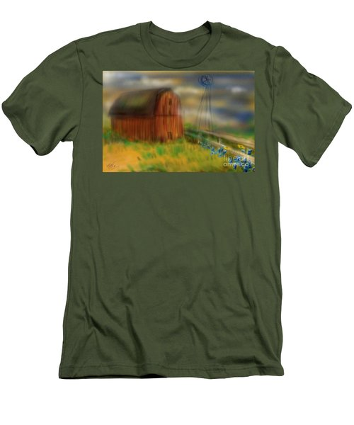 Barn Men's T-Shirt (Slim Fit) by Marisela Mungia