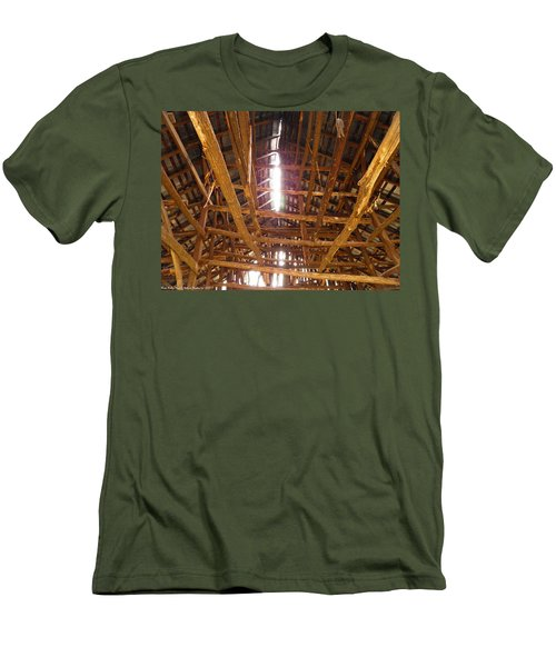 Men's T-Shirt (Slim Fit) featuring the photograph Barn With A Skylight by Nick Kirby
