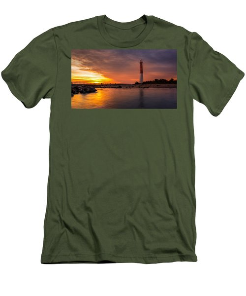 Barnegat Sunset Light Men's T-Shirt (Athletic Fit)