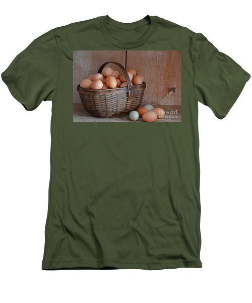Basket Full Of Eggs Men's T-Shirt (Athletic Fit)