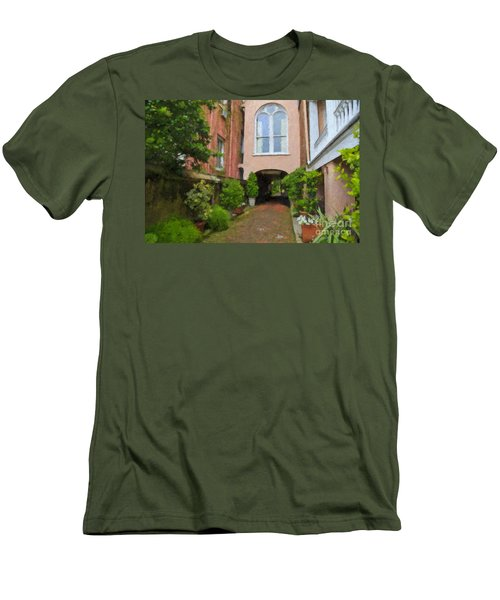Battery Carriage House Inn Alley Men's T-Shirt (Athletic Fit)
