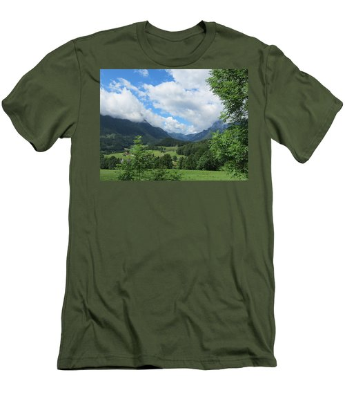 Men's T-Shirt (Slim Fit) featuring the photograph Bavarian Countryside by Pema Hou