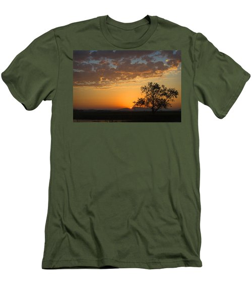 Men's T-Shirt (Slim Fit) featuring the photograph Bayview Sunset by Sonya Lang