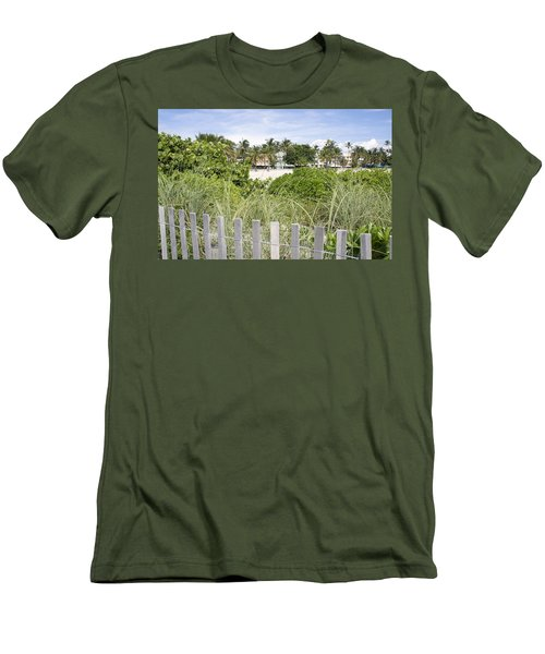 Men's T-Shirt (Slim Fit) featuring the photograph Beach Path by Laurie Perry