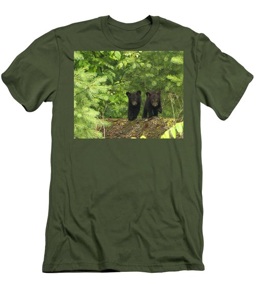 Men's T-Shirt (Slim Fit) featuring the photograph Bear Buddies by Coby Cooper