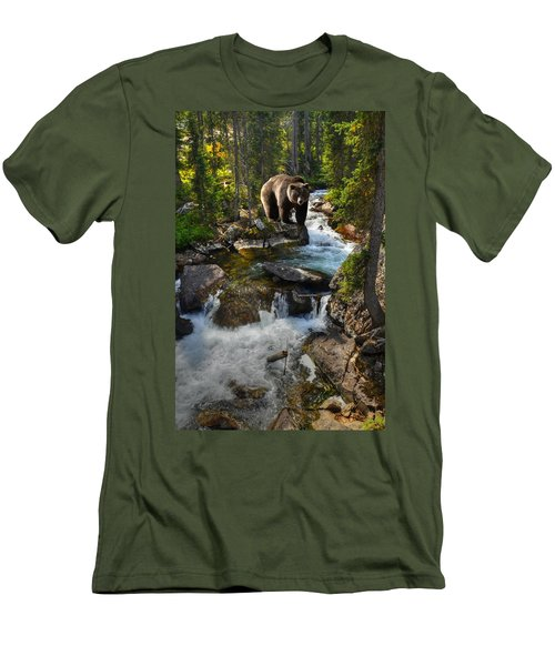 Bear Necessity Men's T-Shirt (Slim Fit) by Ken Smith