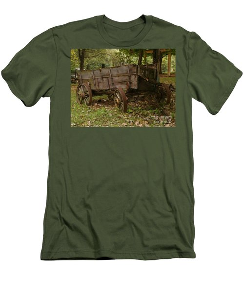 Men's T-Shirt (Slim Fit) featuring the photograph Beaten By Time by Sara  Raber