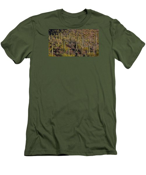 Men's T-Shirt (Slim Fit) featuring the photograph Beautiful Desert Morning by Elaine Malott